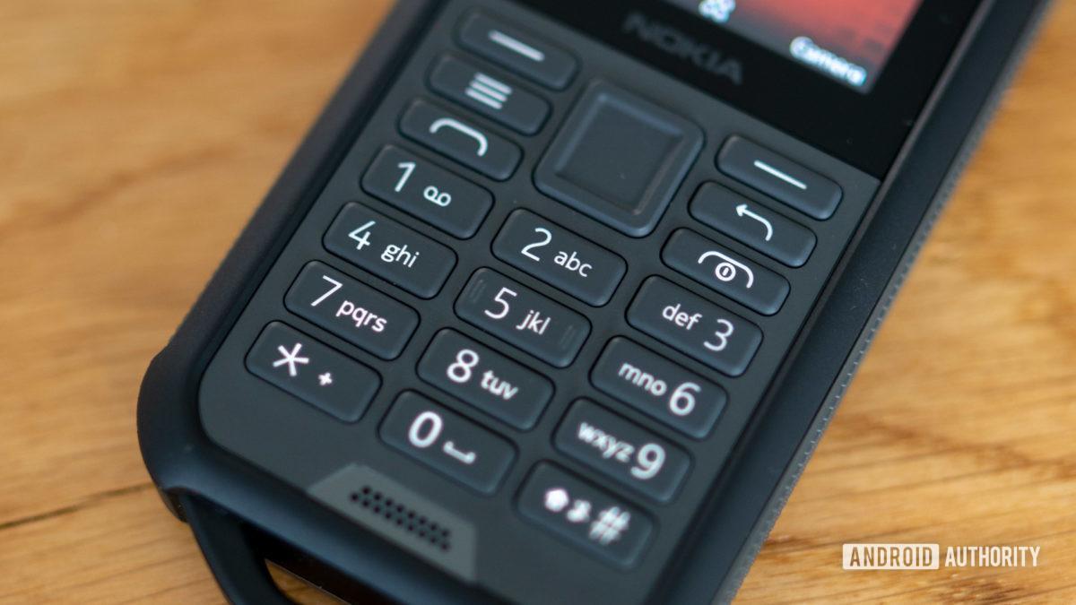 Nokia 800 Tough review T9 keypad