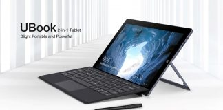 CHUWI UBook figures to be more cost-effective than Microsoft Surface Go