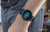 Misfit Vapor X Smartwatch On Wrist Resting On Side Of Body