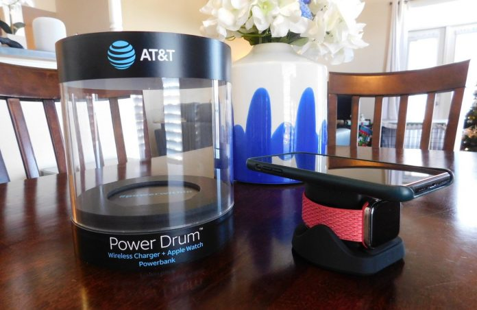 Review: AT&T's Power Drum Can Charge Your Apple Watch and Another Qi Device on the Go, but Phones Are a Bit of a Balancing Act