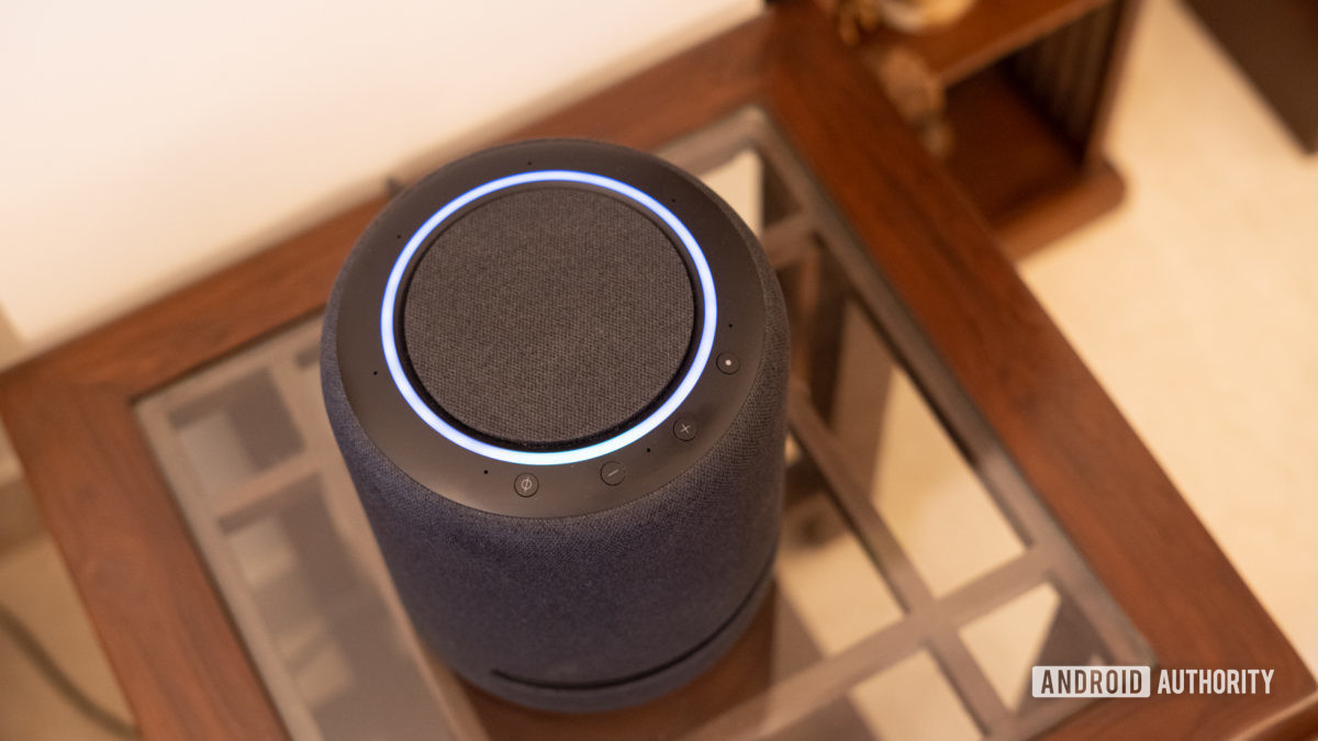 Echo Studio with light ring and control buttons