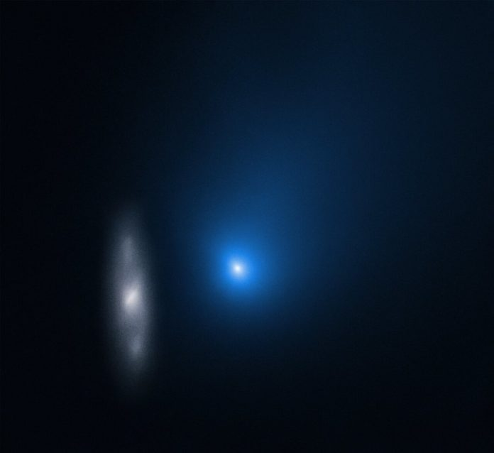 Hubble snaps a picture of interstellar comet Borisov zipping past the sun