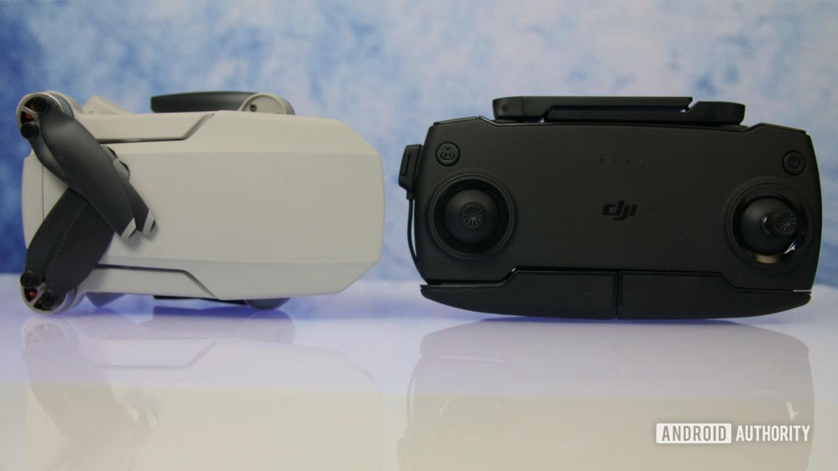 DJI Mavic Mini review folded top and controller aa