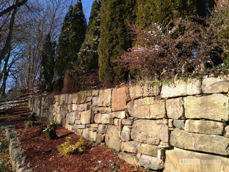 Fxtec Pro1 review camera sample brick wall