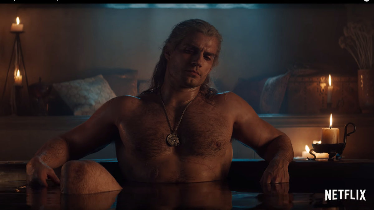 Henry Cavill The Witcher Bathtub Scene