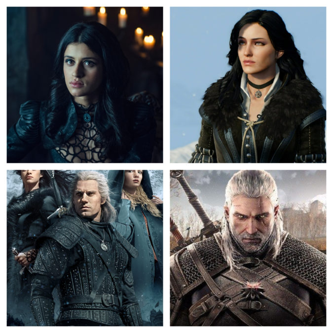The Witcher comparison with game characters