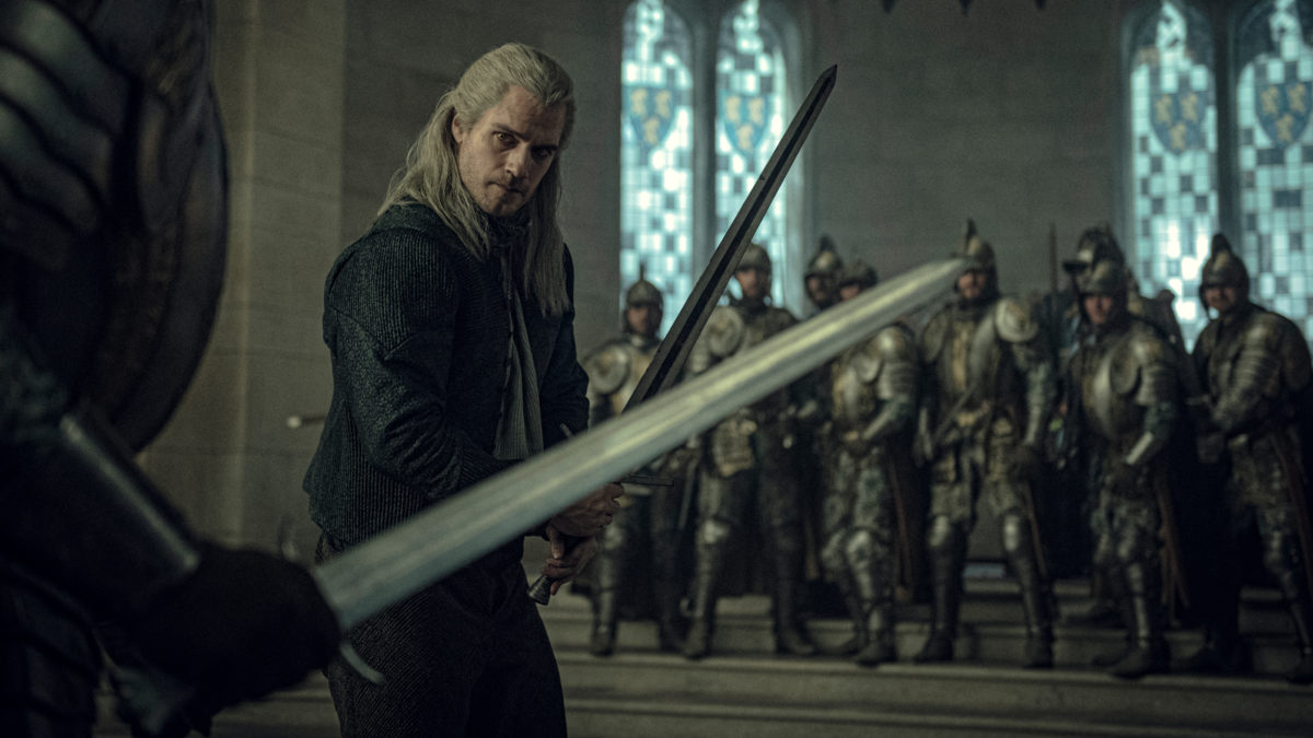 The Witcher Sword Fight production still