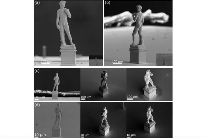 3D-printed replica of Michelangelo's David statue is less than 1mm tall