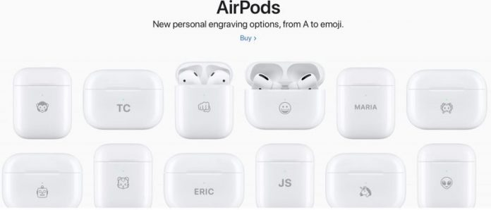 Apple Now Allowing AirPods Charging Cases to Be Engraved With Emojis