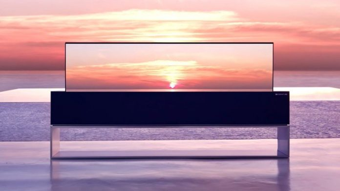 LG's Signature R is a rollable TV that'll cost you a whopping $60,000