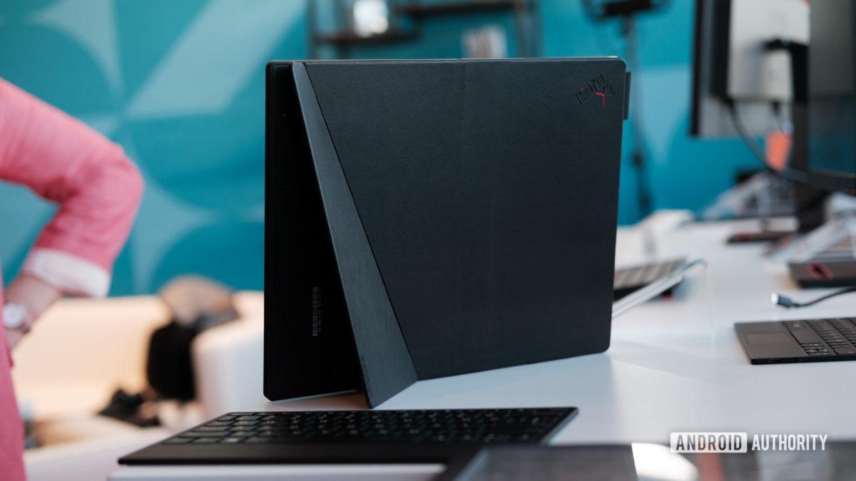 Lenovo Thinkpad X1 Fold unfolded back on table