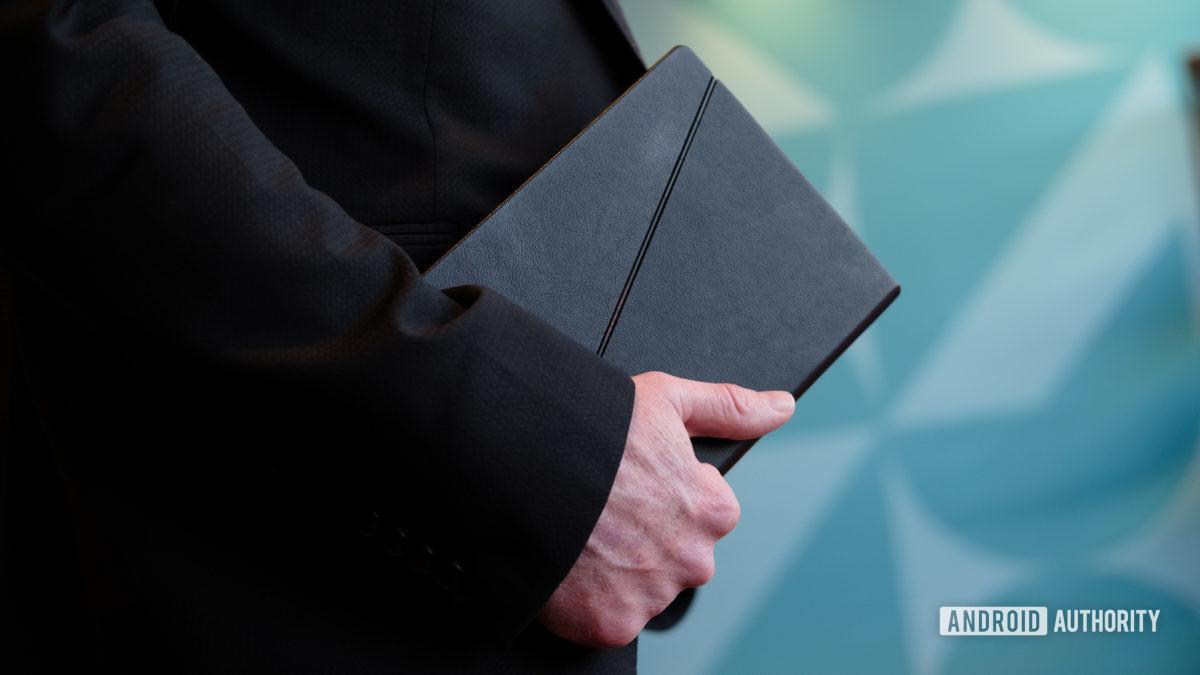 Lenovo Thinkpad X1 Fold folded in hand 1