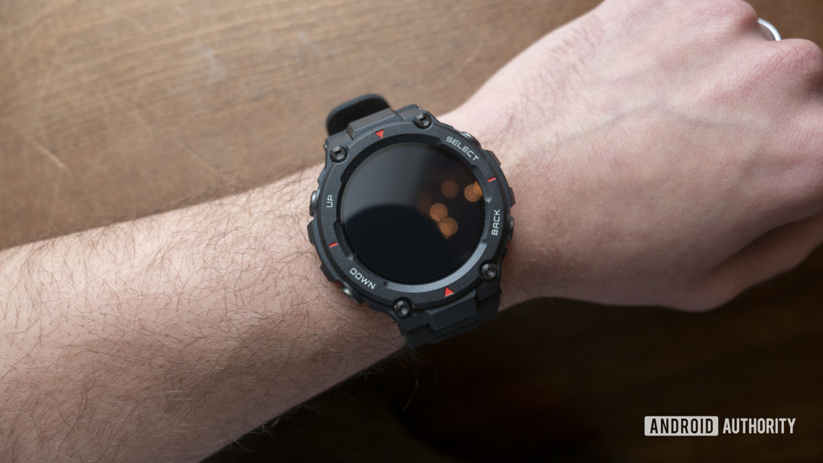 huami amazfit t rex smartwatch display screen off on wrist