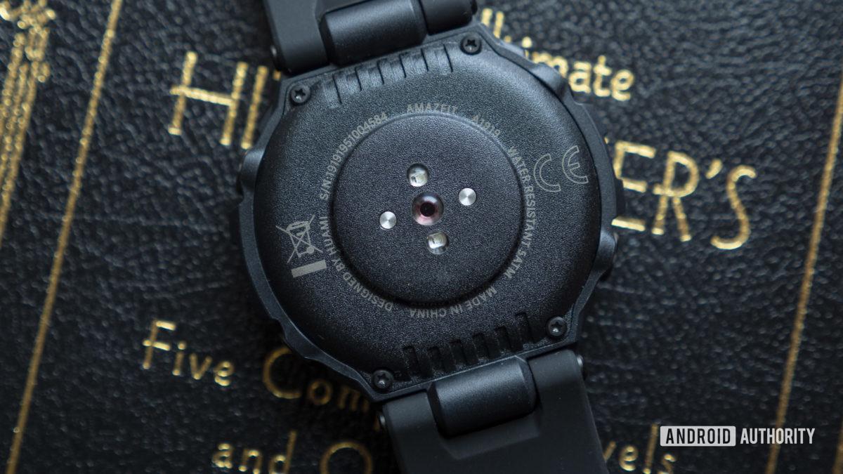 huami amazfit t rex smartwatch heart rate sensor