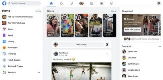 Facebook's redesigned web interface with Dark Mode support rolling out