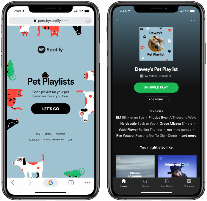 Spotify's New Feature Builds Playlists for Your Pets Based on Their Personality Traits and Your Listening History