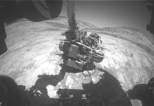 Curiosity rover adjusts its attitude to its Martian surroundings