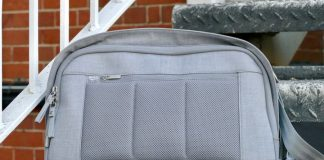 Tired of uncool backpacks? Moshi's Tego Sling Pack Messenger Bag is the solution