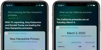 Siri Now Able to Answer U.S. Election Questions