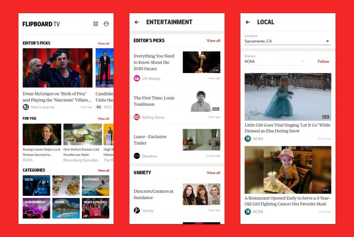 Flipboard TV on Galaxy S20 offers an ad-free streaming-video experience