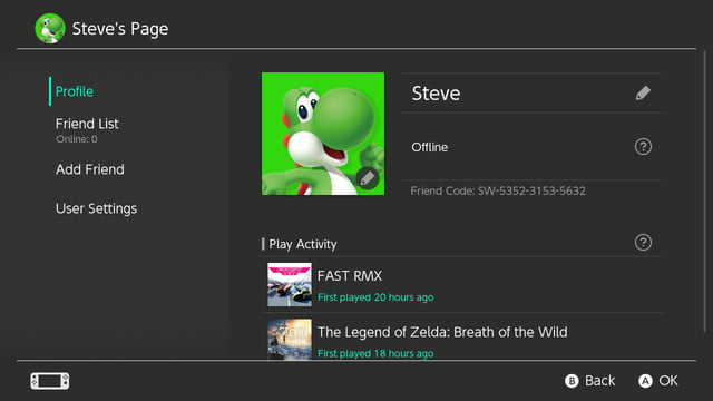 how to add friends on switch user profile
