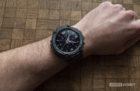 huami amazfit t rex review watch face on wrist