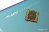 Kirin 990 chipset with Huawei logo on phone
