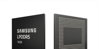 Samsung is the first to begin mass production of 16GB LPDDR5 DRAM
