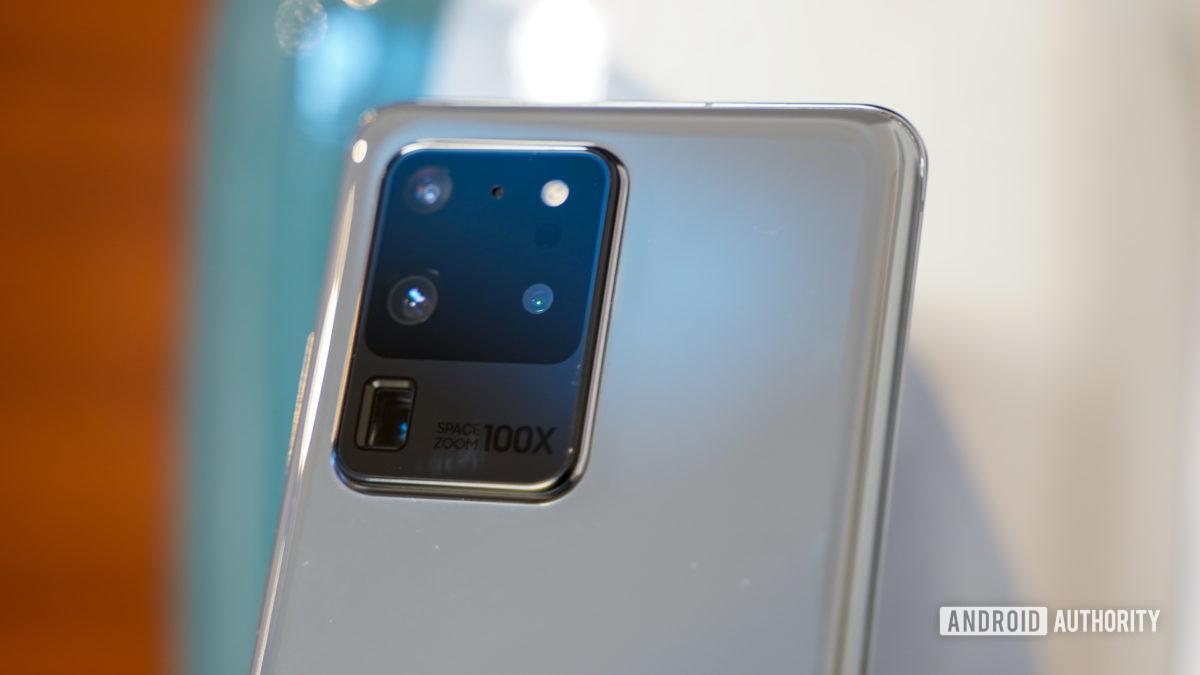 Samsung Galaxy S20 Ultra close up