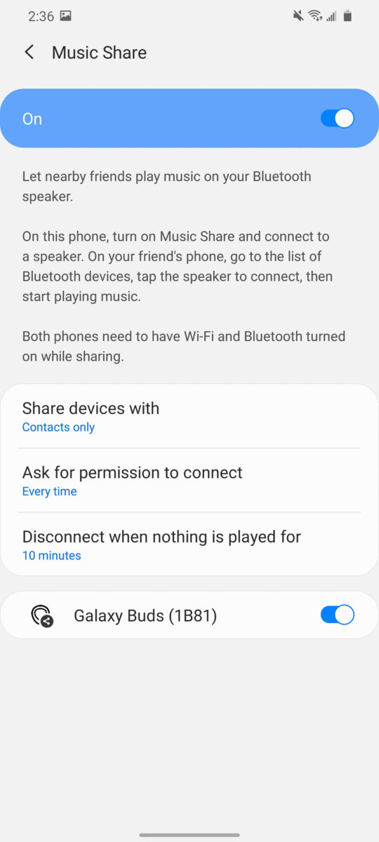 Samsung Galaxy S20 Ultra Music Share 2