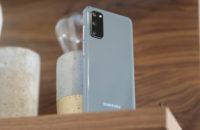 Samsung Galaxy S20 Blue back