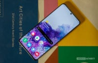 Samsung Galaxy S20 Ultra on book