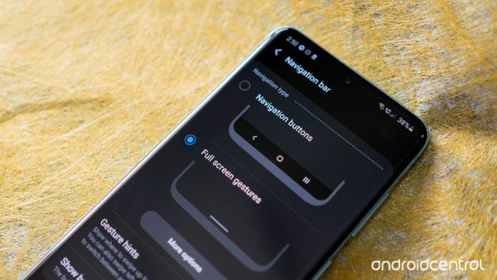 How to activate navigation gestures on the Galaxy S20