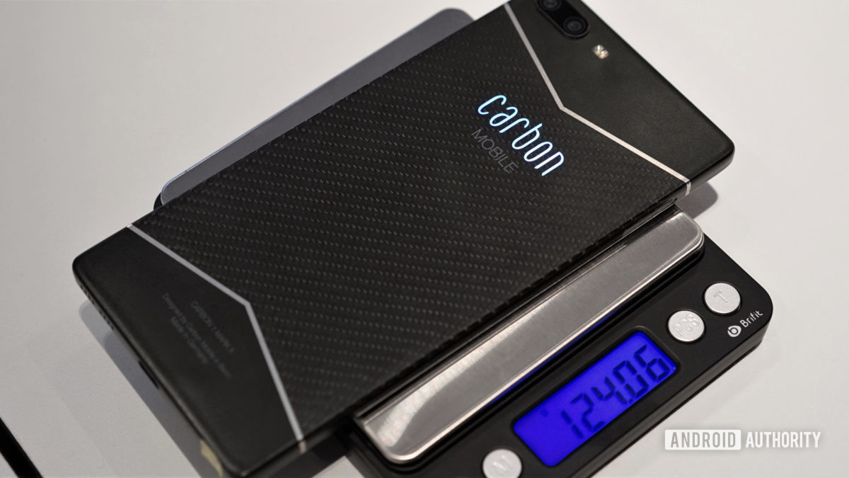 Carbon Mobile Mk II on a scale