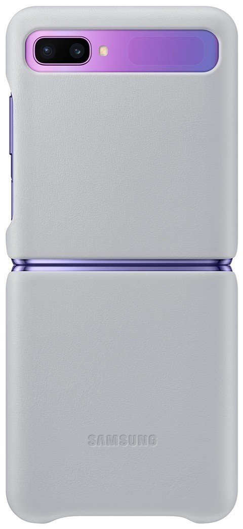 samsung-galaxy-z-flip-silver-leather-cov