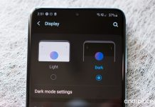 How to enable dark mode on the Galaxy S20