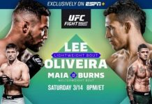 How to watch Lee vs. Oliveira UFC Fight Night live stream online