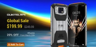 OUKITEL WP6 now available globally for $200