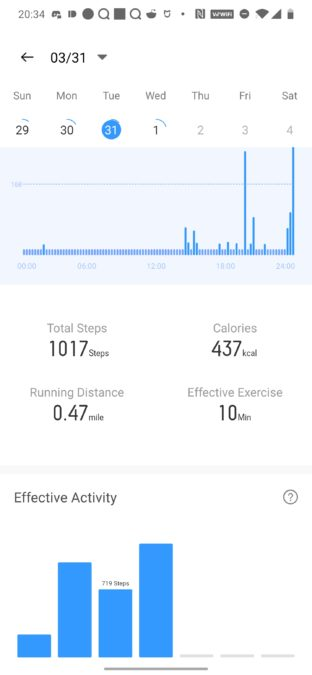 Realme Band step tracking