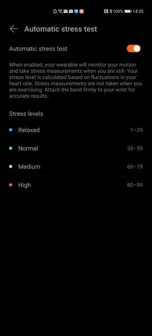 Huawei Health app Huawei Watch GT 2e stress test
