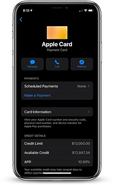 Apple Card's Base APR Lowered to 10.99% for Some Cardholders