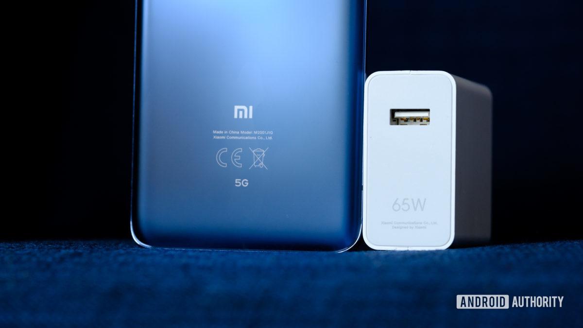 Xiaomi Mi 10 Pro 65W charging brick