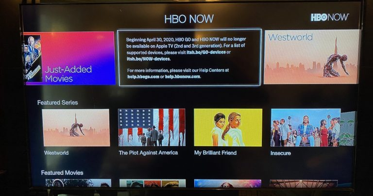 HBO GO and HBO NOW Will No Longer Be Available on 2nd and 3rd Gen Apple TVs Starting April 30