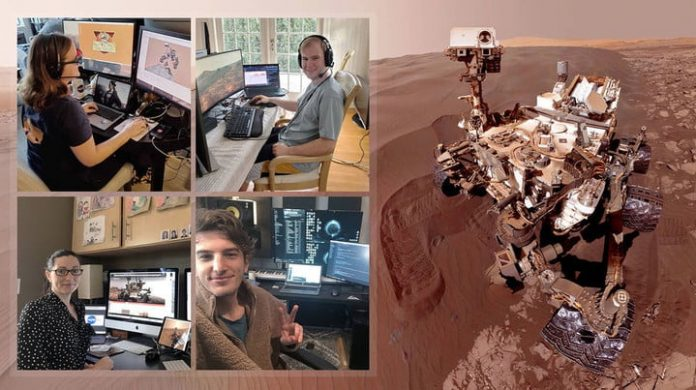 NASA is operating its Mars Curiosity rover from workers' home offices