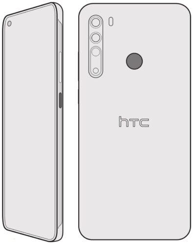 Sketch shows future HTC Desire 20 Pro