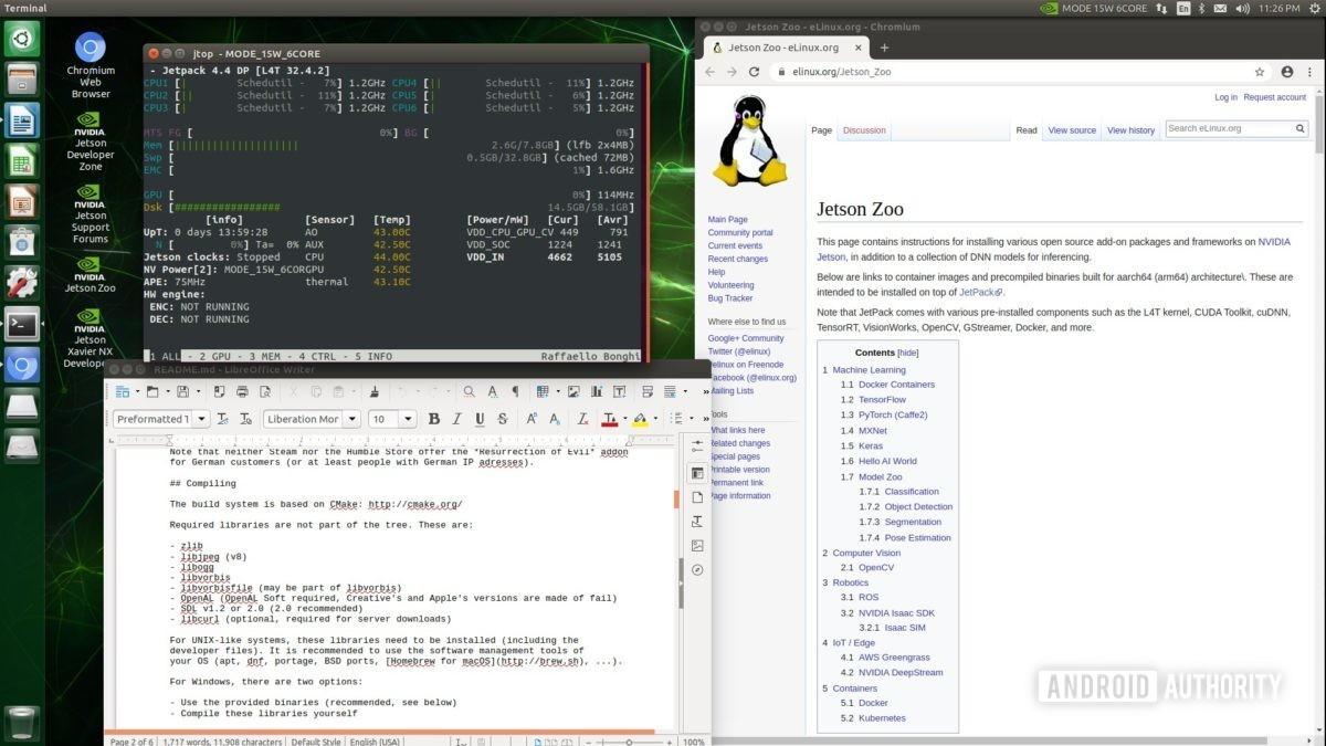 Jetson Xavier NX Ubuntu desktop