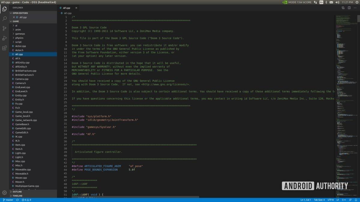 Jetson Xavier NX running Microsoft Visual Code