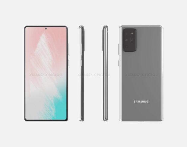 CAD-render shows possible Samsung Galaxy Note 20