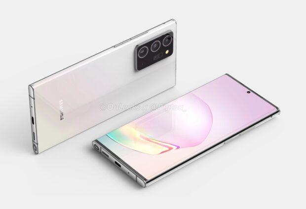 Renders Samsung Galaxy Note 20+ leaked by @onleaks