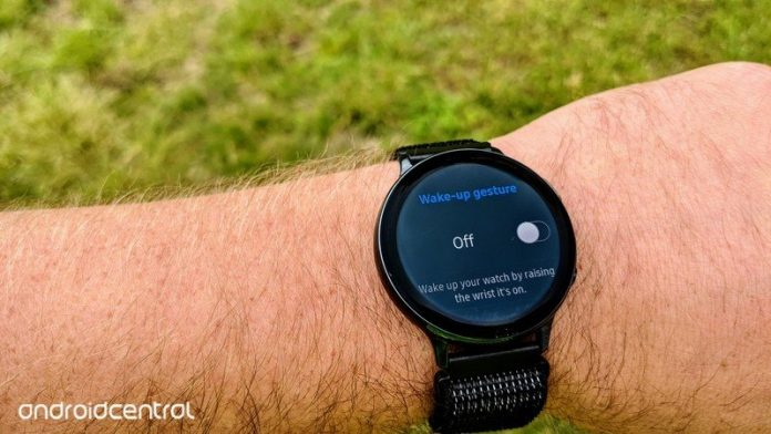 How to enable raise-to-wake on a Samsung Galaxy smartwatch